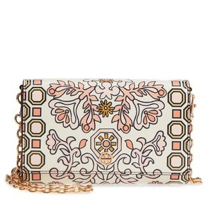 Hicks Garden Party Leather Wallet on a Chain